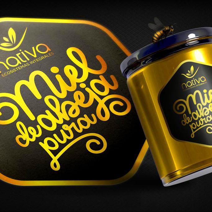 Branding Etiqueta Miel de Abeja