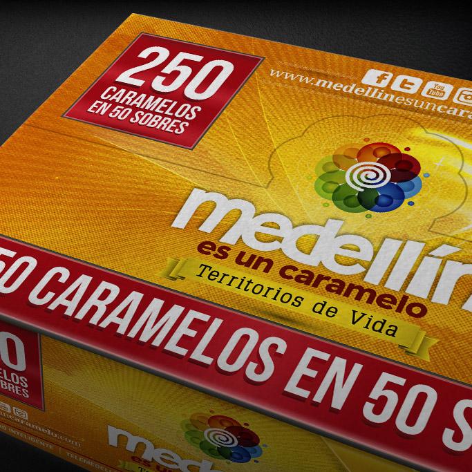 Diseño de Álbum Medellín es un Caramelo