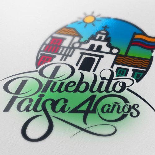 Logosímbolo Pueblito Paisa – 40 años