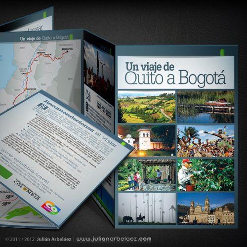 Diseño de Plegable – Un Viaje de Quito a Bogotá