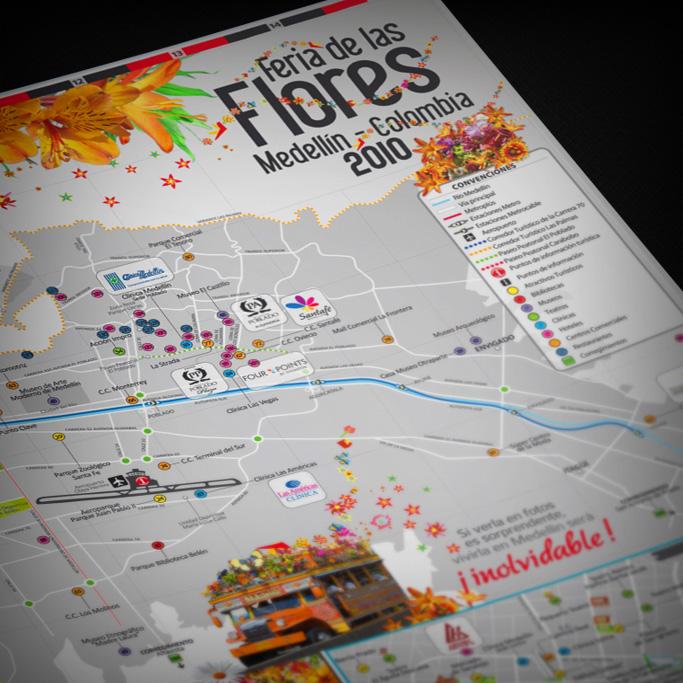 Mapa Turístico Feria de las Flores