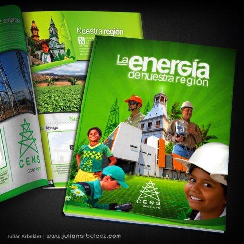 Diseño de Álbum – CENS – La Energía de Nuestra Región
