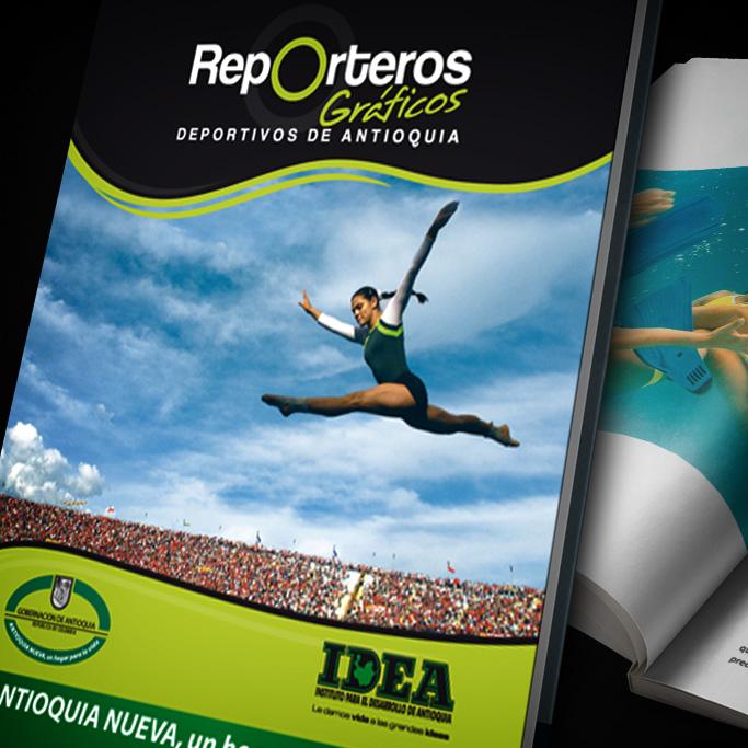 Diseño y Diagramación Libro Reporteros Gráficos Deportivos