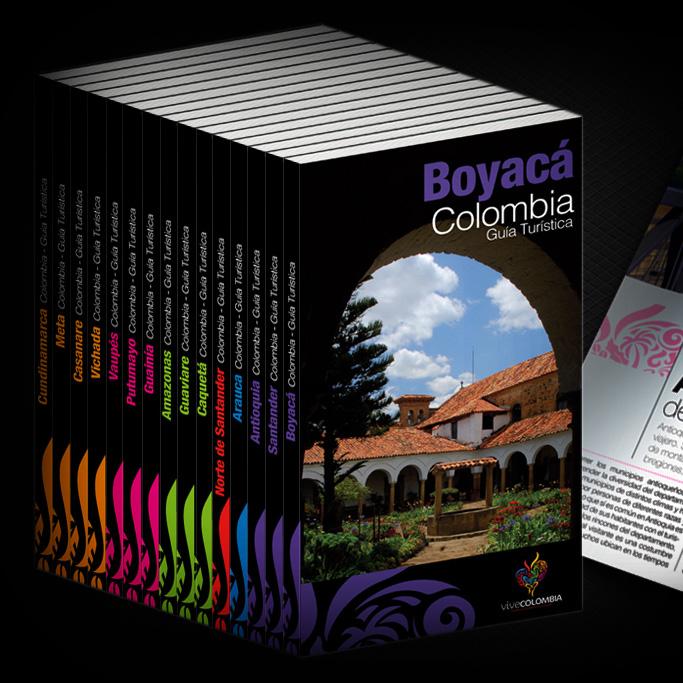 Diseño y Diagramación Guías Turísticas de Colombia