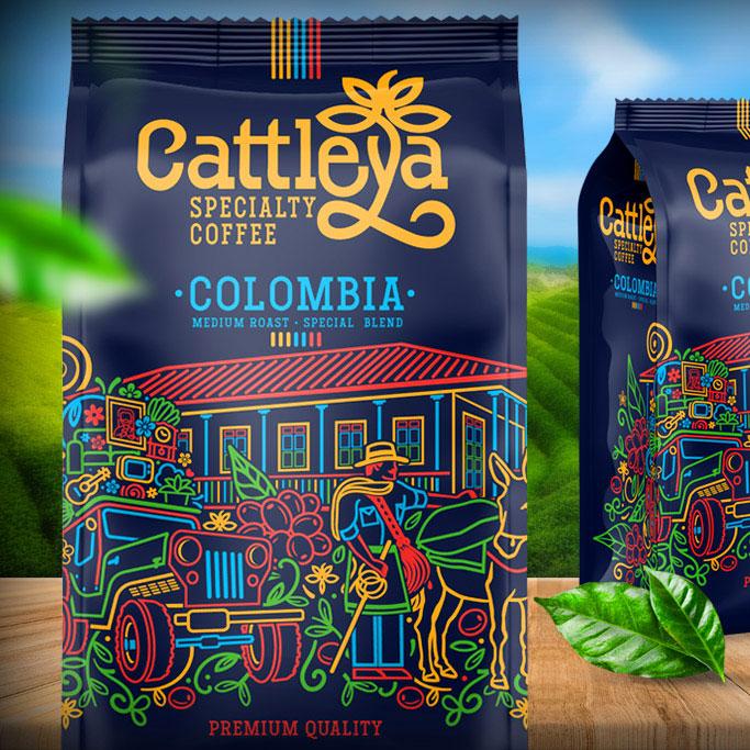 Identidad Café Colombiano Cattleya